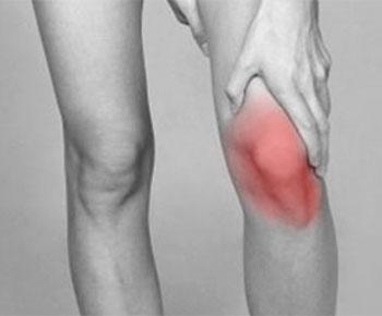 hævet knæ og underben